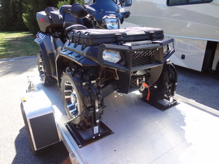 trailer mounting system eliminates the need for straps and is safe and secure